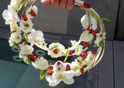 Bouquet de mariage spirale