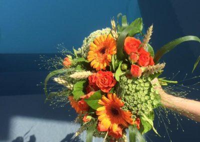 Bouquet de marié champêtre