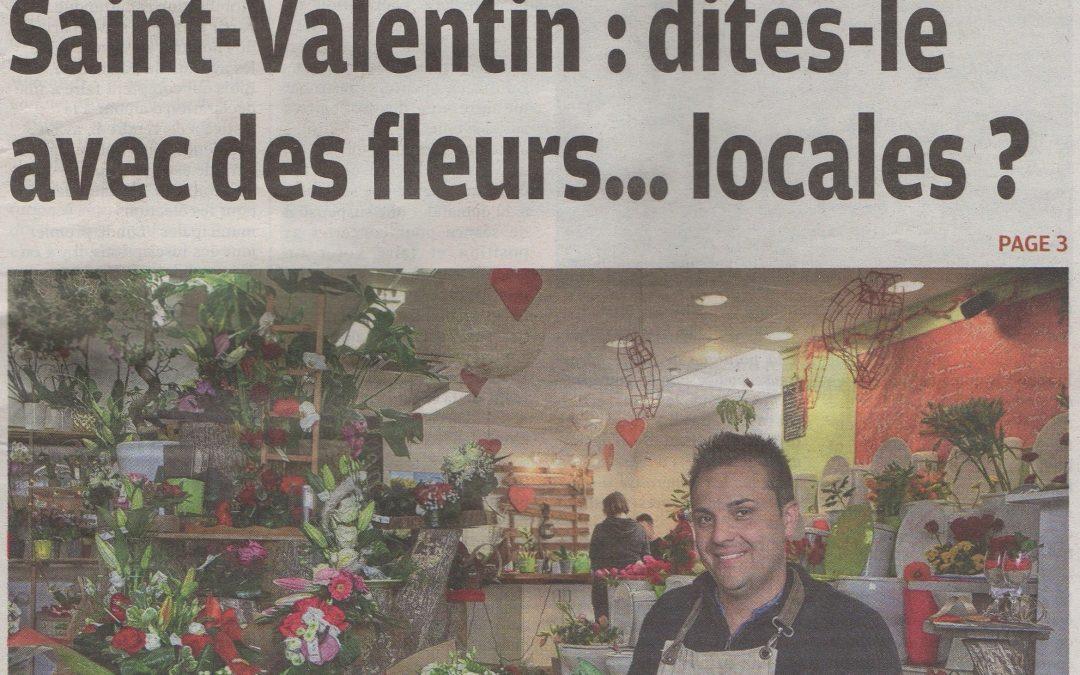 Saint-Valentin : dites-le avec des fleurs… locales
